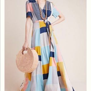 Anthropologie Odells Positano Wrap Dress